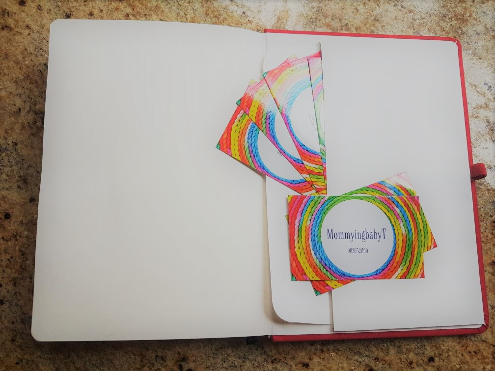 Matrika's Creative Woman's Journal, Matrika's, Matrikas Stationery, mom planner, I am a mom planner, blogger visiting cards, Mumbai blogger