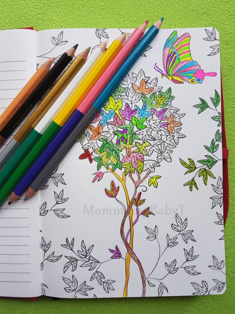 Adult colouring, matrika's creative woman's journal, matrikas, mom planner, I am a mom planner, planner folk, mommy planner, therapy, art therapy