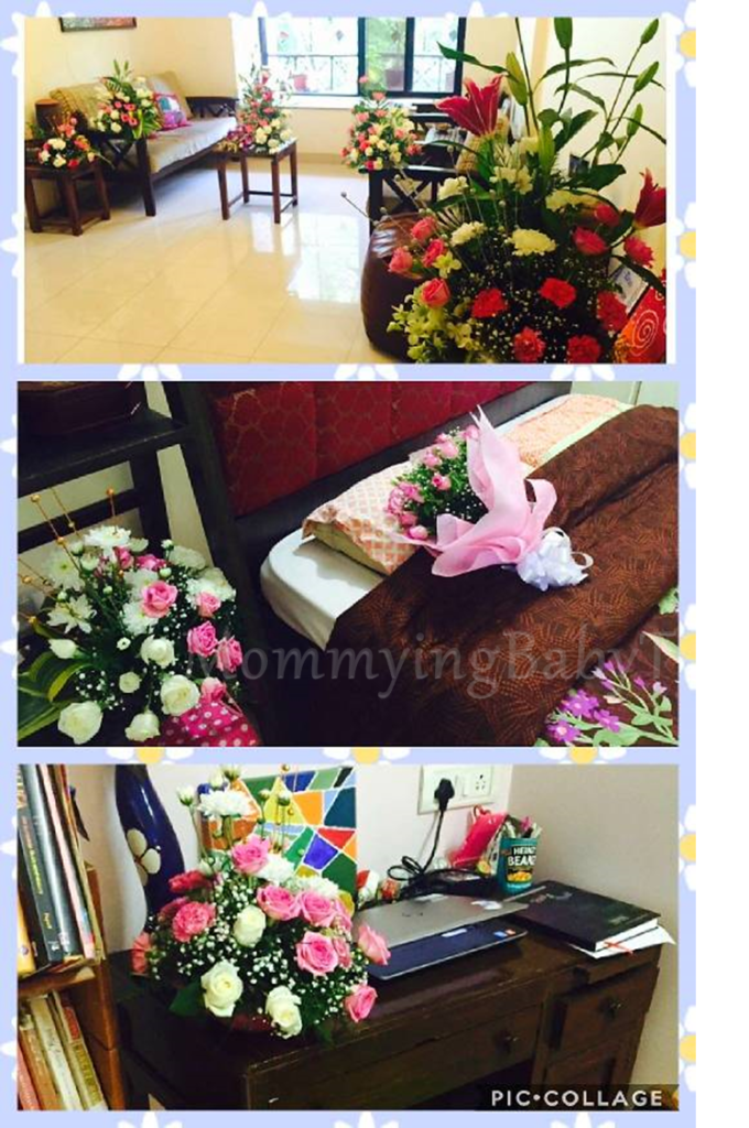 flowers, welcome flowers, pregnant flowers, welcome mommy to be, welcome wifey, welcome home mother, welcome home mommy