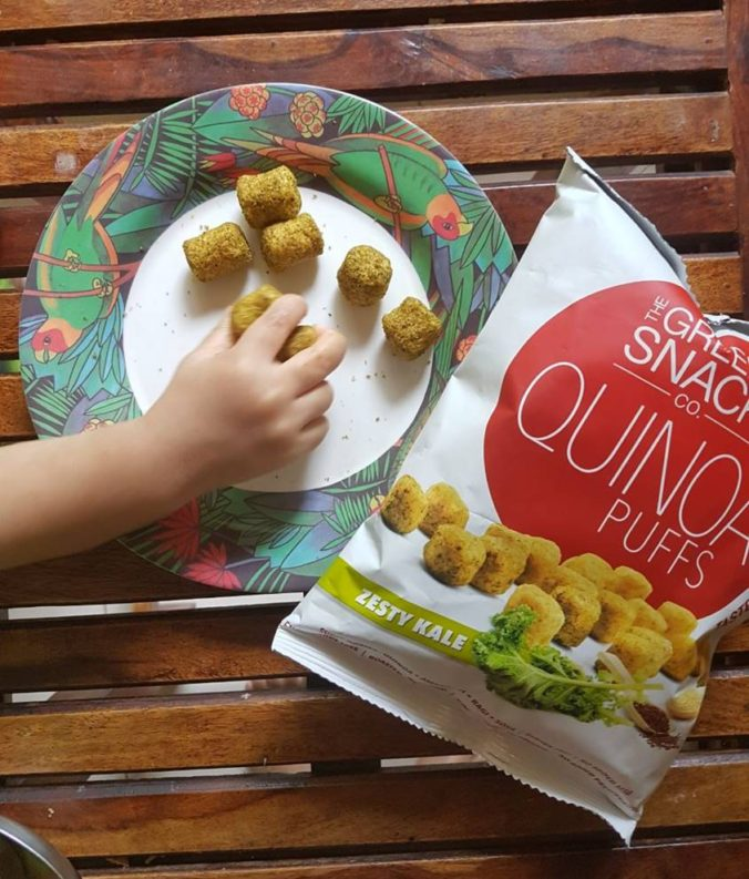 healthy snacks, quinoa, snacks for child, snacks for baby, healthy snacks for breastfeeding, snacks for moms, quinoa puffs, Kale, Green Snack co, Healthy eating India, get fit