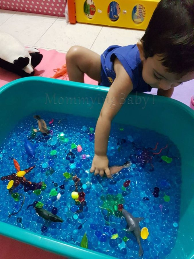 homeschooling, learning through play, sensory activities for children, play based activities, sea creatures, DIY, Pinterest sea creatures, sensory bin, books about the sea, books about stars, books for children, sea animals, flash cards, melissa and doug stickers, reusable stickers