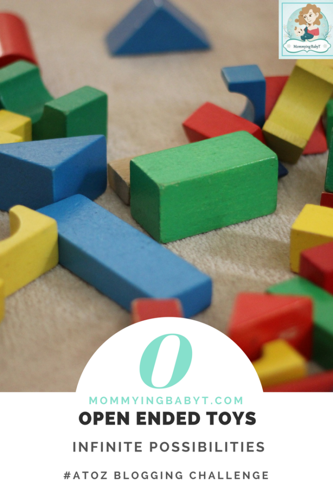 Open ended toys offer limitless possibilities. Not only are they loads of fun they also teach valuable life skills to children - such as trial & error, decision making, patience & let's their imagination & creativity soar. #Besttoysfortoddlers #openendedtoys #woodenblocks #rainbowstacker #grimmstoys