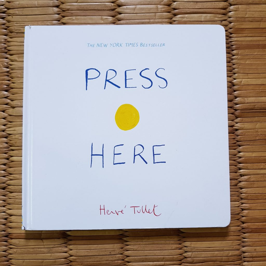 press here by Herve tullet, books for kids, childrens books, favourite books for kids, books for toddlers, favorite books for 2 year olds, books for 3 year olds, books for preschoolers, books to teach kids, gruffalo, julia donaldson, herve tullet, press here book, wow said the owl, karadi tales, book reviews, kids book reviews, books we love, bookstagram, books for baby, best books for kids, best books for 2 year olds, best books for 3 year olds, babyT's books, raising a reader, reading project, love for reading